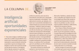 Inteligencia artificial: oportunidades exponenciales.  Columna de Guillermo Carey, Presidente Amcham Chile.