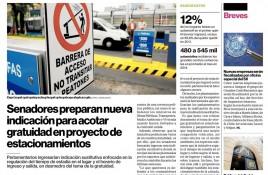 Senadores preparan nueva indicación para acotar gratuidad en proyecto de estacionamientos