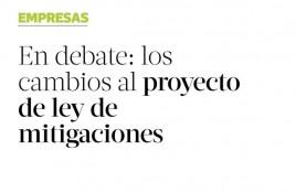 En debate: los cambios al proyecto de ley de mitigaciones