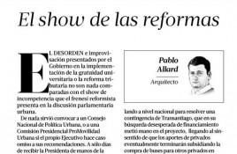 """Pablo Allard, arquitecto: """"El show de las reformas"""""""