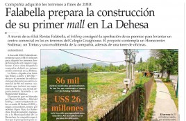 Falabella prepara la construcción de su primer mall en La Dehesa